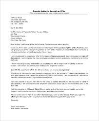 Reply Letter For Accepting Job fer