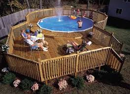Above Ground Swimming Pool Deck Designs Simple Inspiration Design