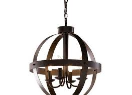 allen roth 18 in w antique rust bronze pendant light at com home inspiration