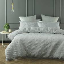 grey quilt cover set queen or king size phase 2 duvet