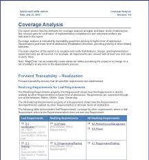 Business Analysis Report Sample - Tm Sheet