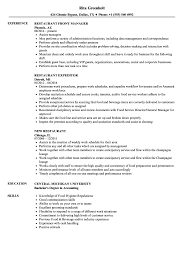 Restaurant Resume Samples Restaurant Resume Samples Velvet Jobs 19