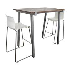 cb2 high dining table and chairs set cb2