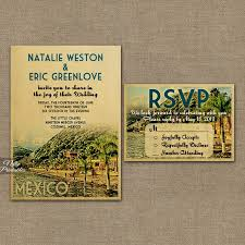 mexican wedding invitations. mexico wedding invitation - printable vintage mexican invites retro set or solo vtw invitations