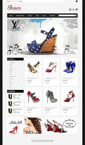 Design Website Template Templates Custom Shoes Brand