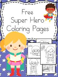 Small Picture Free Superheroes Coloring Pages Kindergarten activities