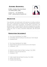 Resume Sample For Teaching Job Resume Examples Templates Elementary