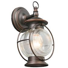 portfolio caliburn 12 25 in h oil rubbed bronze outdoor wall light