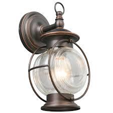 portfolio caliburn 12 25 in h oil rubbed bronze medium base e 26 outdoor wall light