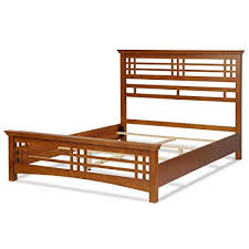 Fashion Bed Group Avery Complete Bed with Wood Frame and Mission Style Design, King, Oak Finish