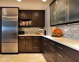 kitchen tile flooring dark cabinets. Image Of: Dark Cabinets With Light Quartz Kitchen Tile Flooring L