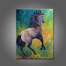 abstract horse painting on canvas artist handpainted beautiful wall decoration wall art paints stallion on canvas artwork
