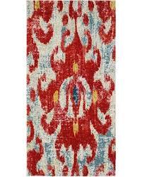 watercolor area rug. Contemporary Watercolor Area Rug, Brick/Light Blue, Runner 2\u00277\ Rug