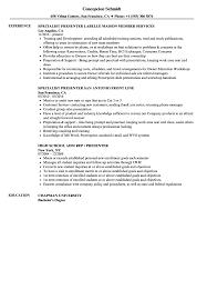 Presenter Resume Samples Velvet Jobs