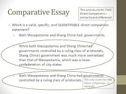 comparative essay another skill historians attempt to master is comparative essay this one counts for two direct comparisons similarity and difference