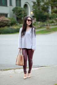 burgudy fall outfit stuff i love burdy faux leather legging fall outfit burdy faux leather leggings lysse high