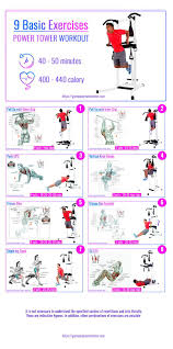 Power Tower Workout Routine Exercises And Muscle Worked