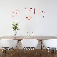 be merry holidays winter wall decals