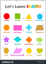 parallelogram shapes and names. colorful geometric shapes with their name clip art collection isolated on white background for preschool kids parallelogram and names