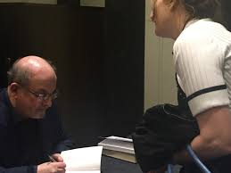 speech salman rushdie sally o dowd get acquainted salman rushdie signing the satanic verses
