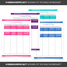 Free Printable worksheet for studying women in the bible - great ...