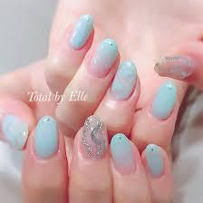 涼しげ夏ネイル 中指がアクセントで可愛い Total By Elle所属