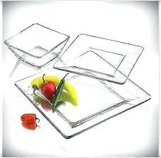 square plates and bowls set 2 of 6 dinnerware set piece square glass plates bowls dinner square plates