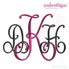 kennedy interlocking 3 letter monogram set