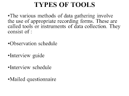 Data Collection Technique And Tools Prepared By Dr Amira Yahia