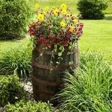 half barrel planter diy
