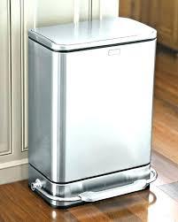 slim 13 gallon trash can gallon kitchen trash cans green gallon kitchen trash can motion sensor