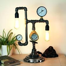 how to make a pipe lamp black socket light