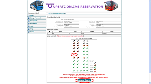 upsrtc when user click on next button following screen appears which displays the bus seat format here user can select the required seats