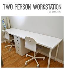 Two Person Workstation Collage