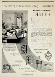 furniture advertisement layout imperial furniture company tables the image depicts advertising for imperial