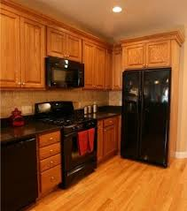 kitchen color ideas with oak cabinets and black appliances. Fancy Oak Kitchen Cabinets With Black Appliances M26 For Home Design Furniture Decorating Color Ideas And E