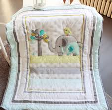 New 7 pcs baby bedding set baby crib bedding sets elephant cartoon ... & New 7 pcs baby bedding set baby crib bedding sets elephant cartoon baby  nursery bedding sets Quilt Bumper Sheet Skirt-in Bedding Sets from Mother &  Kids on ... Adamdwight.com