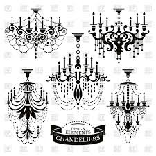 silhouettes of chandeliers vector image vector artwork of objects selenamay 60185 to zoom