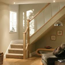 full oak and glass banister landing set including newel posts and glass panels
