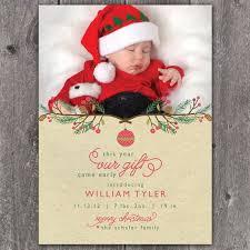 Christmas Baby Announcement Wording Christmas Ba Announcement