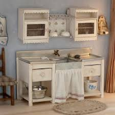 dollhouse kitchen furniture. wooden sink cabinet for dollhouse scale making handmade and painted by handceramic glass accessories included kitchen furniture
