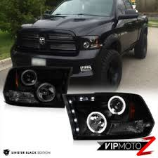09-18 Dodge Ram PickUp Sinister Black Smoke Halo LED Projector ...