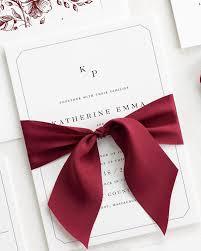 Katherine Ribbon Wedding Invitations Ribbon Wedding