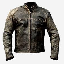 men s antique vintage distressed retro motorcycle real leather biker jacket