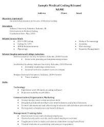 Medical Resume Format Medical Coder Resume Medical Coding Resume ...