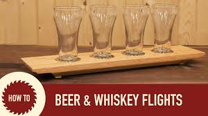 woodworking how to make a beer flight a whiskey flight and a candle holder you