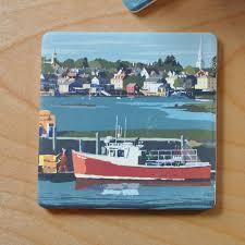 Red Lobster Boat Art Drink Coaster ...