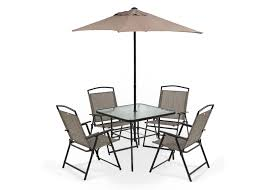 bastile patio set table 4 chairs