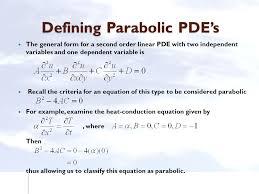 2 defining parabolic pde s