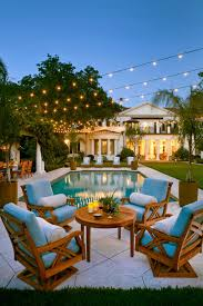 cool bulb ceiling light above best pool design with antique chairs deck decorating